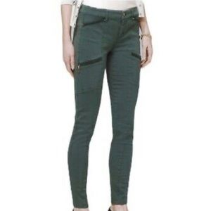 WHBM Skinny Ankle Utility Jeans cool olive Size 6
